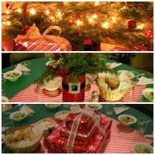 potpourri mommy inexpensive christmas party table centerpieces