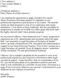 cover letter examples for legal assistant