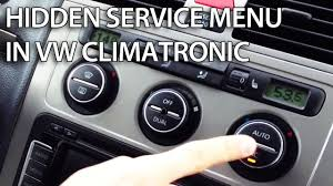 how to access hidden service menu in vw climatronic golf passat