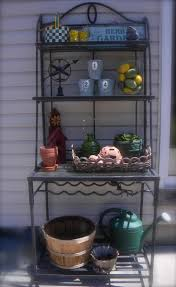 Bakers Racks With Drawers Tips Decorative Outdoor Bakers Rack For Indoor And Outdoor Use
