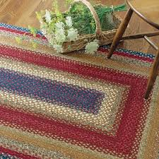 Woven Rugs Cotton Log Cabin Step Cotton Braided Rugs