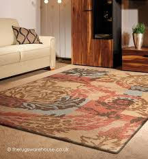 rugs uk modern gardenia rug a floral patterned 100 wool knotted rug http