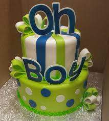 electric blue and lime green baby shower cake cakes bright