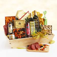 meat and cheese gift baskets ultimate meat cheese wooden gift basket crate california delicious