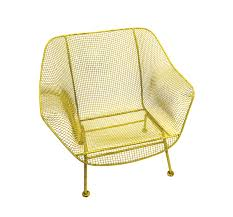 Mid Century Modern Patio Chairs Lot Detail Elvis Owned Yellow Wrought Iron Mid Century
