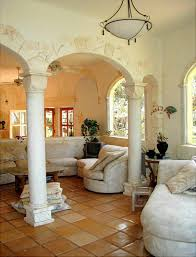 charming mediterranean style interior interesting stone work