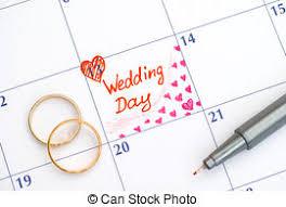 calendrier mariage photo de stock rappel jour calendrier mariage reminder