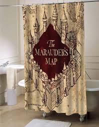 Harry Potter Bathroom Accessories The Marauders Map Shower Curtain Myshowercurtains