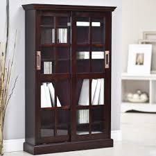 bookshelf with glass doors india black bookcase with glass doors