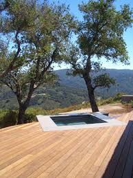 Decks With Benches Built In Built In Tub Deck Landscape Modern With Wood Bench Piece