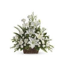 white lilies peaceful white lilies basket t228 1a 74 66