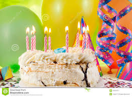 colorful birthday light candles chocolate cake stock images 207