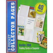 9 pocket pages 9 pocket collector pages hobby lobby 896019