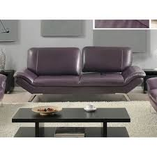 Roxi Full Italian Leather Sofa Eggplant At Home USA Modern - Full leather sofas