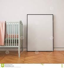 Baby S Room Mockup Poster In A Child U0027s Room 3d Stock Illustration Image