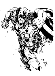 captain america by jonboy inks by rexbegonia on deviantart