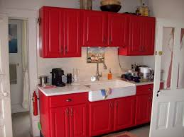 Red Kitchen Paint Ideas by Red Kitchen Cabinets Home Design Ideas