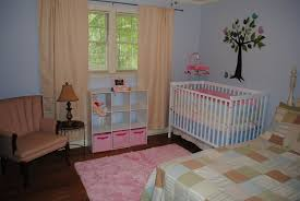 interesting design of the nursery blue walls that has blue