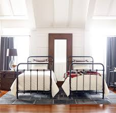 kingsley vintage black iron twin platform bed frame zin home