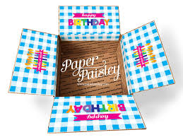 birthday care package birthdays paper paisley sticker kits