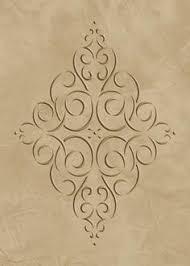 raised plaster stencil manhattan mangle wall by elegantstencils