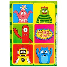yo gabba gabba sticker sheets birthdayexpress