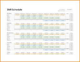 Excel Employee Schedule Template Employee Schedule Template Resume Exles