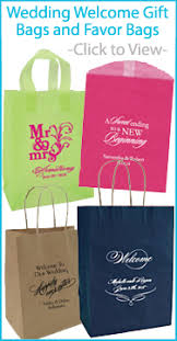 personalized wedding gift bags personalized napkins gift bags favor boxes and accessories