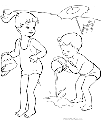 preschool beach coloring pages coloring
