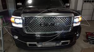 led lights for 2014 gmc sierra diy 2014 gmc sierra hid headlight kit install enlight youtube