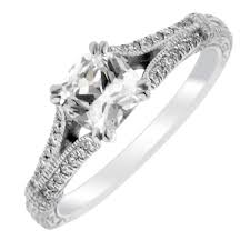 engagement ring settings only artcarved engagement ring setting in 14kt white gold 1