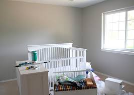 small space nursery love the wall color behr irish mist baby