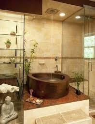 Zen Interior Design Fancy Interior Zen Bathrooms With Tempered Glass Rack For Towel