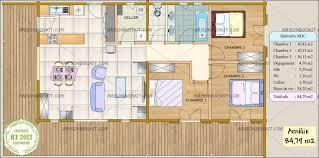 les 3 chambres prix maison bois moderne 3 chambres maisons