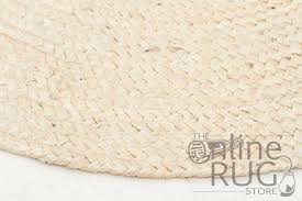 Round Natural Rug by Polo Bleach Jute Round The Online Rug Store