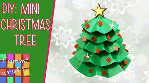 how to make a mini paper christmas tree diy tutorial youtube
