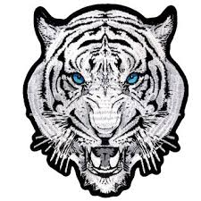 buy white tiger blue biker beautiful embroidered motorcycle