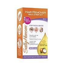 amazon com sally hansen hair remover wax strip kit for face