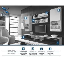 Led Tv Box Design Luna High Gloss White Led Tv Wall Entertainment Unit Display