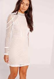 white lace dress with sleeves knee length work it in this high up kneelength sivvicom up white lace dress