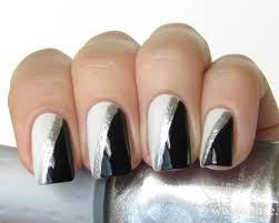 black and silver nail art nail art designs u0026 ideas nails