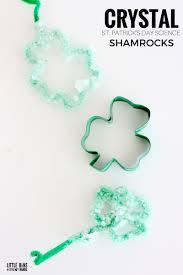 crystal shamrocks for kids st patrick u0027s day science and craft