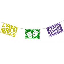 mardi gras banner mardi gras picado style pennant banner 8 x 12 59230