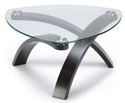 furniture modern round glass coffee table with stainless steel