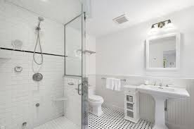 Bathrooms With Beadboard Contemporary 3 4 Bathroom With Frameless Showerdoor U0026 High Ceiling