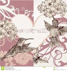 Wedding Invitation Card Free Download Wedding Invitation Card With Hummingbirds Royalty Free Stock Image