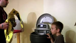 simon and dad filling the kenmore water softener youtube