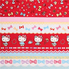hello ribbon hello stripes ribbon jewelry oxford fabric by sanrio from
