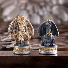 Metal Chess Set by Chess Sets From The Chess Piece Chess Set Store Ultimate Dragon