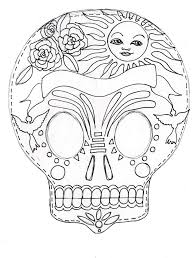 224 best day of the dead color pages images on pinterest sugar